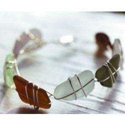 Sterling SeaGlass Bracelet