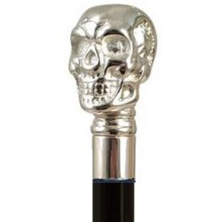 Skull Handle Walking Stick with Black Beechwood Shaft