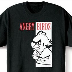 Angry Birds Black and White T-Shirt
