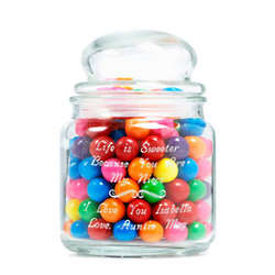 Personalized Life Is Sweet Glass Jar
