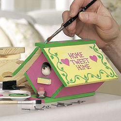 Wood Birdhouse Craft Kits
