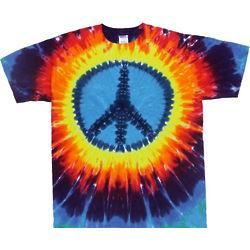 Rainbow Peace Sign Tie Dye Tee