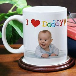 I Love Daddy Personalized Photo Coffee Mug