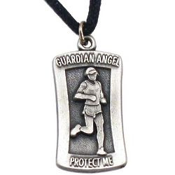 Personalized Runner Protect Me Pendant