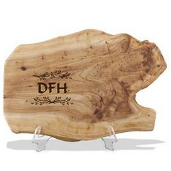 Monogrammed Fir Wood Root Cheese Board