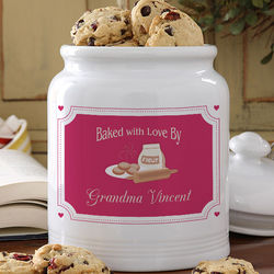 Personalized Baked wth Love Cookie Jar
