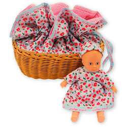 Penelope Peapod Doll with Matching Cradle