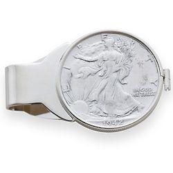 Liberty Half Dollar Sterling Silver Money Clip
