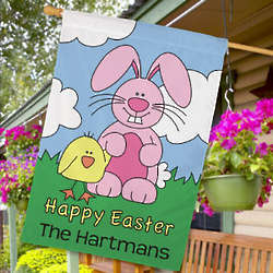Happy Easter Personalized House Flag