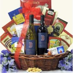 Boston Red Sox Double Play Wine Gift Basket
