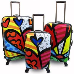Abstract Heart Design Hardside Luggage