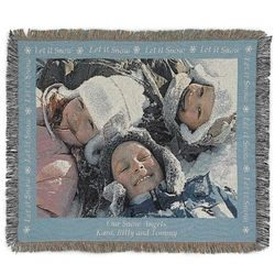 Landscape Let It Snow Photo Blanket