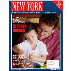 Personalized Father Magazine Label