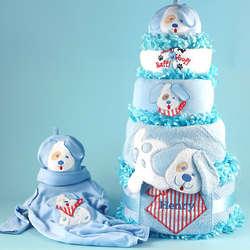 Personalized Puppy Love Diaper Cake