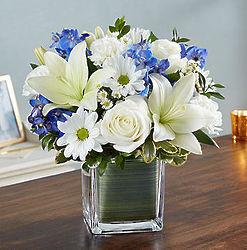 Healing Tears Blue & White Bouquet
