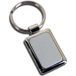 Personalized Two-Tone Silver Key Chain