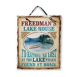 Personalized Lake House Slate