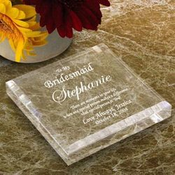 Personalized Bridal Party Keepsake & Paperweight
