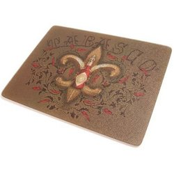 Tabasco Fleur De Lis & Peppers Tempered Glass Cutting Board