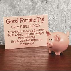 Good Fortune Pig Figurine