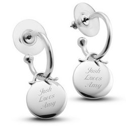 Hoop Earrings with Charm