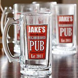 Personalized Neighborhood Pub Beer Mug