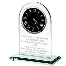 Father's Personalized Glass Clock