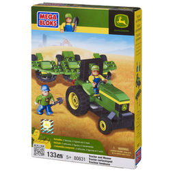 John Deere Mega Bloks Tractor and Mower Toy