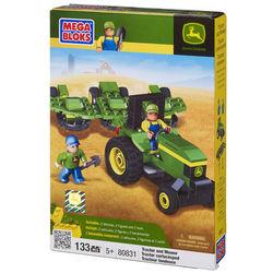 John Deere Mega Bloks Tractor and Mower Toy
