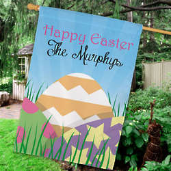 Easter Eggs Personalized House Flag