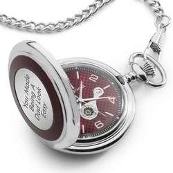 Red Carbon Fiber Pocket Watch