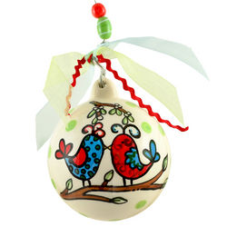 Personalized Our First Christmas Ornament with Bird Design
