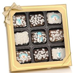 Winter Chocolate Dipped Krispies Gift Box