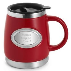 Red Double-Walled Coffee Mug