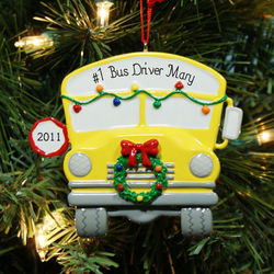 Personalized School Bus Driver Ornament