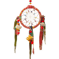 Recycled and Handcrafted Sari Dreamcatcher