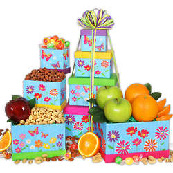 Flowers and Butterflies Sweets Gift Tower