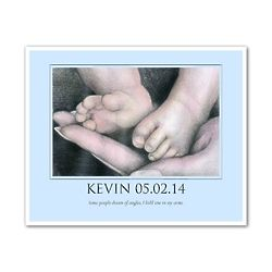 Baby Bliss Personalized Baby Boy Fine Art Print