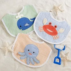 Beach Buddies Baby Boy 3-Piece Bib Gift Set