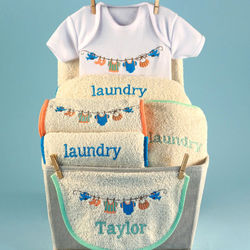 Baby Laundry Personalized Gift Basket