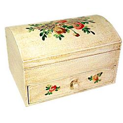 Italian Floral Wooden Jewelry Box