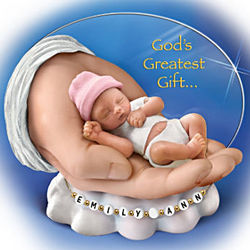 God's Greatest Gift Personalized Tiny Sleeping Baby Figurine