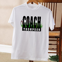 Personalized Baseball Coach T-Shirt