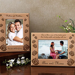Personalized Make Your Own Rose Wooden Picture Frame