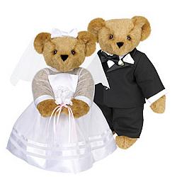 Bride & Groom Wedding Teddy Bear Set