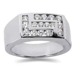 1.00 ctw Men's Diamond Ring in 14K White Gold