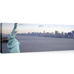 New York City with Statue of Liberty Canvas