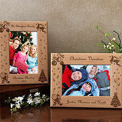 Personalized Create Your Own Christmas Wooden Picture Frame