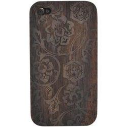 iPhone 4 Rose Vine Hard Wood Back Cover Case