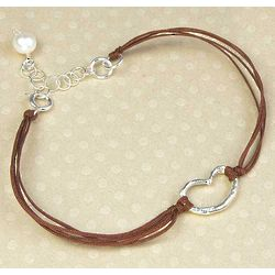 Erin's Heart Bracelet in Brown